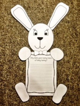Bunny Easter Writing Craft | Fun and Engaging Craftivity for Little Learners