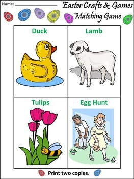 Easter Crafts & Games Activity Packet