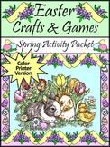 Easter Crafts & Games Activity Packet - Color Version