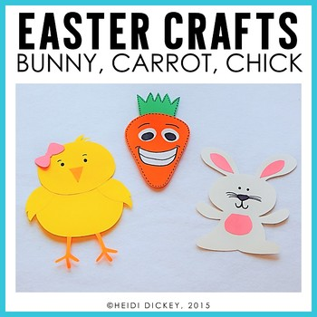 Easter Crafts Pack- Chick, Bunny, Carrot