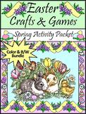 Easter Activities: Easter Crafts & Games Activity Bundle -