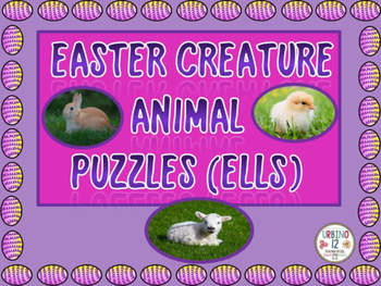 Easter Creature Animal Puzzles  (Set of Six)
