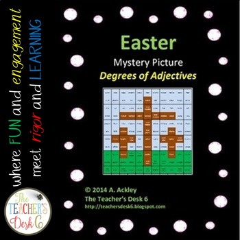 Easter Cross Mystery Picture Degrees of Adjectives