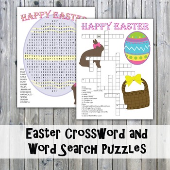Easter Crossword Puzzle and Word Search
