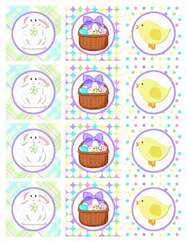 Easter Cupcake Toppers, Easter Stickers