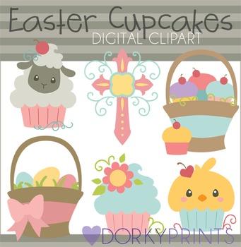 Easter Cupcakes Digital Clip Art