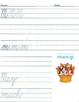Easter Cursive Writing A-Z