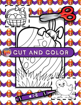 Easter Cut, Color, Read, Write Mini Flashcards Activity