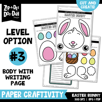 Easter Cut & Create Writing Craftivity {Zip-A-Dee-Doo-Dah Designs}