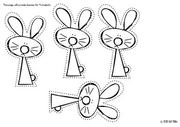 Spring and Easter Cut Paste Trace Writing Worksheets