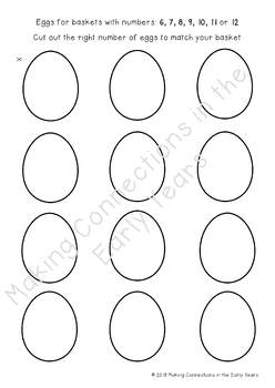 Easter Number and Counting Cut and Paste Activity