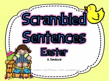 Easter Cut and Paste Sentences in English