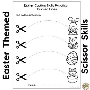 Cutting Practice Worksheets {Easter}