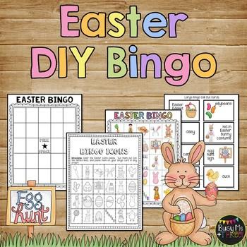 Easter bingo printables teaching resources teachers pay teachers easter bingo game diy do it yourself solutioingenieria Images