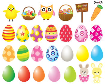 Easter Day Clipart Easter egg bunny Easter clipart rabbit image Background paper