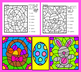 Easter Activities: Color By Sum - Addition Facts to 10 NO PREP!  PRINT & GO!