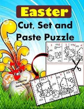 Easter Day - Cut, Set and Paste Puzzle
