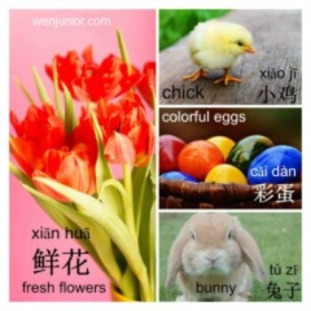 Easter Day English Chinese Bilingual Picture Word List Handout