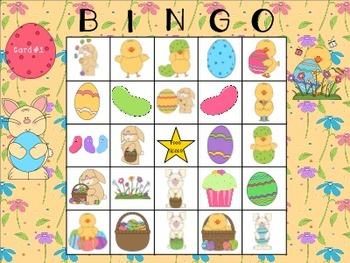 Easter Describing Bingo