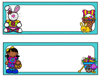 Easter Desk Name Tags...Editable