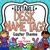Easter Desk Name Tags...Editable