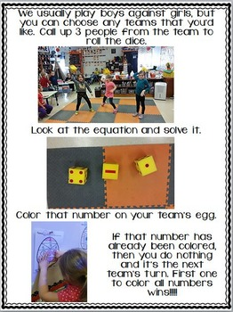 Easter Dice Game Freebie {Adding and Subtracting Fun for the Whole Class}