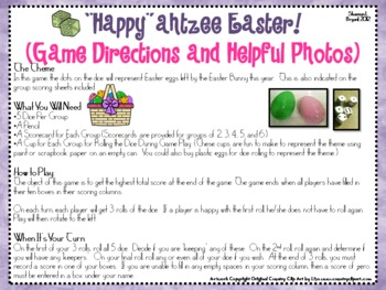 "Easter Dice Game (""Happy""ahtzee Easter!)"