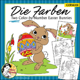 Easter - Die Farben German Colors Color by Number Easter Bunny Worksheets