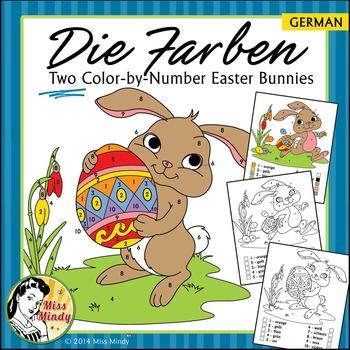 Easter - Die Farben German Colors Color by Number Easter B