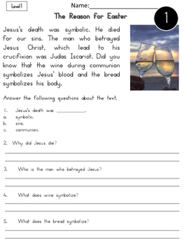 Easter Differentiated Nonfiction Reading Passages