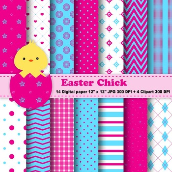 Easter Digital Paper & Clipart