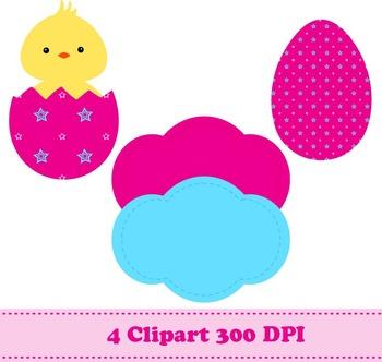 Easter Digital Paper & Clipart