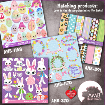 Easter Digital Papers Digital Paper and backgrounds, AMB-381