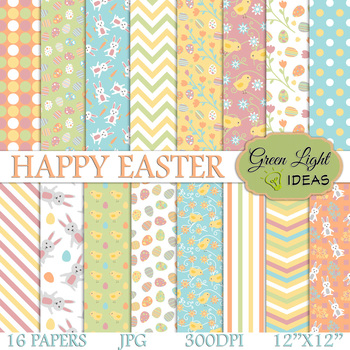 Easter Digital Papers Easter Eggs Backgrounds Easter Scrapbook Paper