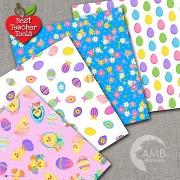 Easter Digital Papers, Easter, Blue Nests {Best Teacher Tools}  AMB-1199