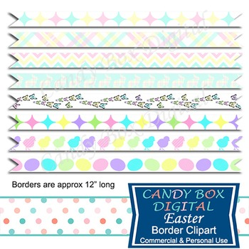 Easter Digital Ribbon Clip Art
