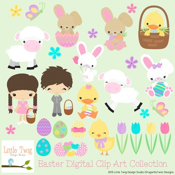 Easter Digital clip Art Set