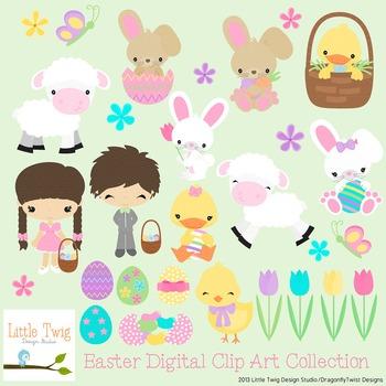 Easter Digital clip Art Set