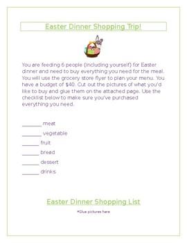 Easter Dinner Shopping Trip!