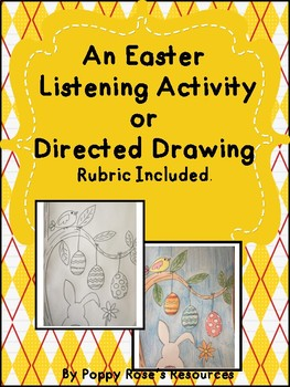 Easter Directed Drawing/ Painting with Assessment Rubric