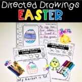 Easter Directed Drawings Bunny Eggs Basket Carrot Chick Peep Lily