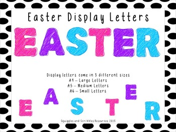 Easter Display Letters