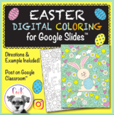 Easter Distance Learning Digital Coloring Pages for Google