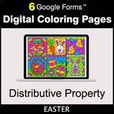 Easter: Distributive Property - Google Forms   Digital Col