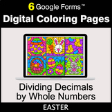 Easter: Dividing Decimals by Whole Numbers - Digital Color