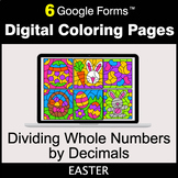 Easter: Dividing Whole Numbers by Decimals - Digital Color