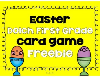Easter Dolch (First) Game FREEBIE