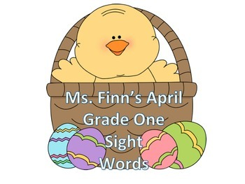 Easter Dolch First Grade Sight Words