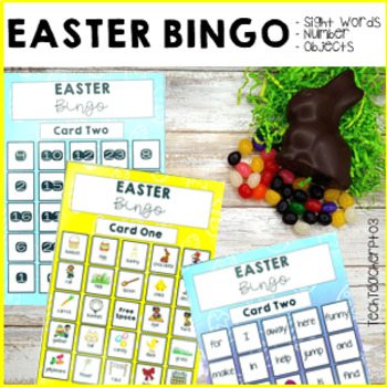 Easter Sight Word Bingo with Editable Template