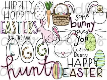 Easter Doodles Digital Clip Art Set